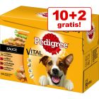 10 + 2 gratis! 12 x 100 g Pedigree Vital Protection