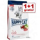1 + 1 gratis! 2 x 1,8 kg Happy Cat La Cuisine