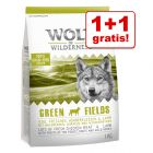 1+1 gratis! 2 x 1 kg Wolf of Wilderness Trockennahrung