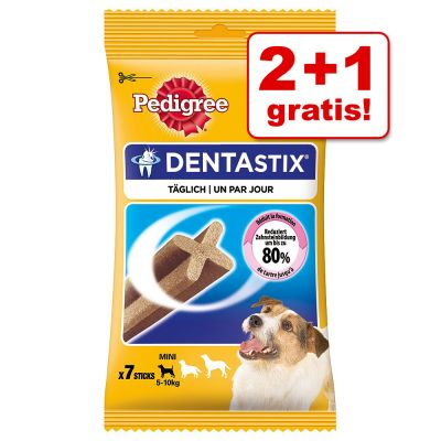 2 + 1 gratis! 3 x 7 pz Pedigree Dentastix