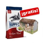 Happy Cat 8/10 kg + casita Happy Cat ¡gratis!