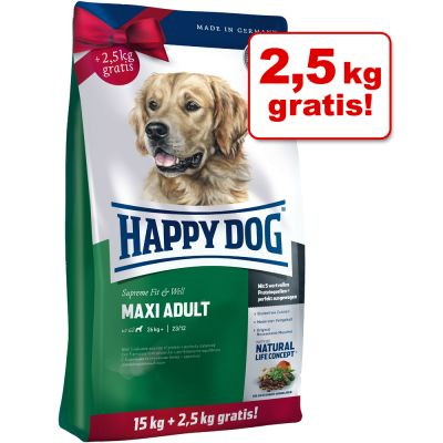 Happy Dog Fit & Well Maxi Adult & Medium Adult Bonusbag