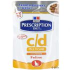Hill's Prescription Diet Feline c/d con pollo, en sobres