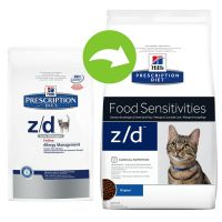 hill 39 s prescription diet z d food sensitivities croquettes pour chat zooplus. Black Bedroom Furniture Sets. Home Design Ideas