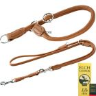 Hunter Round & Soft Lead & Collar Set - Cognac