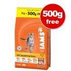 Iams Proactive Health Adult Cat 3kg + 500g Free!