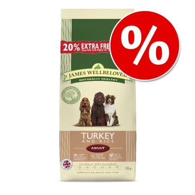 James Wellbeloved Extra Fill Bags - 15kg + 3kg Free!*