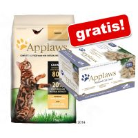 6 kg / 7,5 kg Applaws + 8 x 60 g Cat Pot Selection gratis!