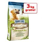 15 + 3 kg / 2 kg gratis! 18 kg / 17 kg Happy Dog NaturCroq