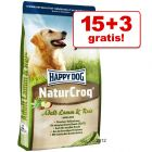 15 kg + 3 kg gratis! 18 kg Happy Dog NaturCroq