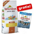 2 kg Almo Nature Holistic + Snack Azul Label gratis!