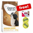12kg Concept for Life Dry Dog Food + KONG AirDog Squeakair Balls Free!*