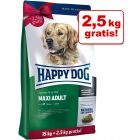 2 / 2,5 kg gratis! 14,5 / 17,5 kg Happy Dog Fit & Well