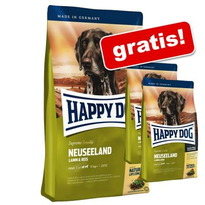 12,5 + 2 kg gratis! 14,5 kg Happy Dog Supreme Sensible