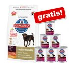 10/12 kg Hill's Canine Adult Weight Control / Healthy Mobility + 6 x 370 g Nassfutter gratis!