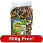 2kg JR Farm Dwarf Rabbit Food Feast + 500g Free!*