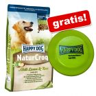 10 kg of 15 kg Happy Dog Natur + Happy Dog frisbee gratis!