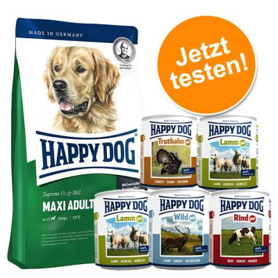 happy dog supreme hundefutter g nstig bei zooplus kombipaket happy dog supreme. Black Bedroom Furniture Sets. Home Design Ideas