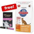 Large Bags Hill's Science Plan + Miamor Malt-Cream Free!*