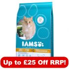 Large Bags Iams Proactive Health Dry Cat Food - Up to £25 Off RRP!*