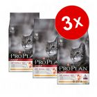 Lot Pro Plan 3 x 1,5 / 3 kg pour chat