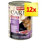 Lot 4 saveurs Animonda Carny Adult 12 x 400 g