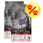 Lot 2 saveurs Purina Pro Plan Adult 2 x 10 kg