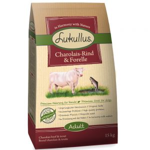 Lukullus Dog Food Charolais Beef & Trout