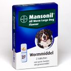 Mansonil All Worm Large Dog Flavour tabletten