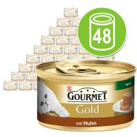 Mégapack Gourmet Gold Terrines 48 x 85 g pour chat