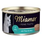 Miamor Feine Filets, Heller Thunfisch & Reis in Jelly
