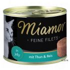 Miamor Feine Filets, Thunfisch & Reis in Jelly