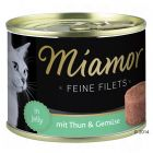 Miamor Feine Filets w galarecie, 6 x 185 g