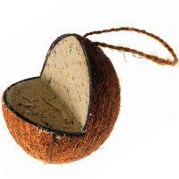 noix de coco fourr e de graisse nourriture pour oiseaux sauvages zooplus. Black Bedroom Furniture Sets. Home Design Ideas