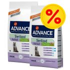 Pack ahorro Advance pienso para gatos 2 x 3 / 10 / 15 kg