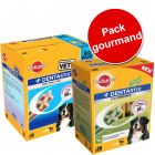 Pack gourmand Pedigree : 56 Dentastix + 28 Dentastix Fresh à prix avantageux !