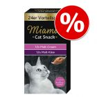 Pack mixto: Miamor Cat Snack crema de malta y malta con queso
