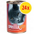 Pack mixto: Smilla Tiernos trocitos de ave 24 x 400 g
