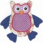 Patchwork Owl Cat Toy with Valerian