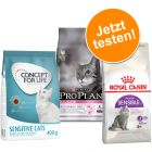 Probierpaket Concept for Life und Royal Canin 400 g, Pro Plan 1,5 kg