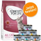 Probierpaket: 400 g Concept for Life + 6 x 70 g Cosma Nature