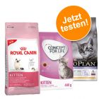 Probierpaket  Royal Canin und Concept for Life 400 g, Pro Plan 1,5 kg