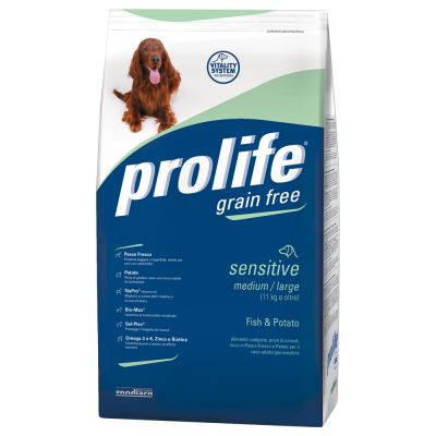 Prolife Grain Free Sensitive Medium/Large Pesce & Patate