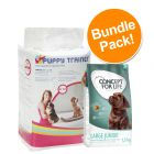 Savic Puppy Trainer Pads + 1.5kg Concept for Life Junior - Special Bundle Price!*