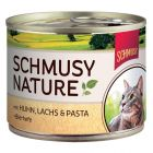 Schmusy Nature, Huhn, Lachs, Pasta & Bierhefe
