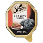 Sheba Schale Classics in Pastete mit Rind & Huhn