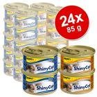 Shiny Cat Mixed Selection -säästöpakkaus 24 x 85 g