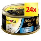 Sparpaket GimCat ShinyCat Filet 24 x 70 g