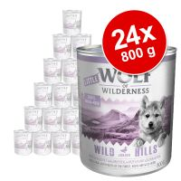 Sparpaket Little Wolf of Wilderness Junior 24 x 800 g