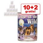 Taste of the Wild 12 x 374 g en oferta 10 + 2 ¡gratis!